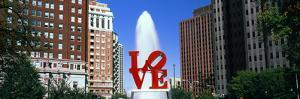 Fountain in a park, Love Park, Philadelphia, Pennsylvania, USA