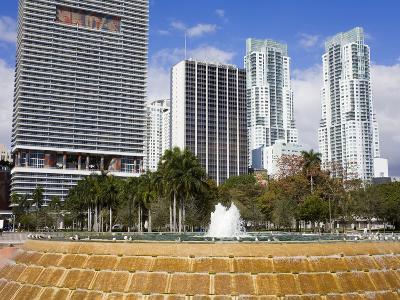Fountain in Bayfront Park, Miami, Florida, United States of America, North America-Richard Cummins-Photographic Print