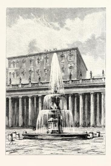 Fountain in Front of the Vatican, Rome, Italy--Giclee Print