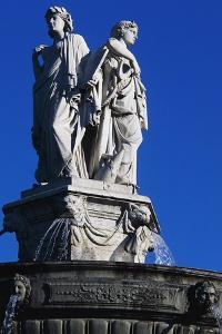 Fountain in General Charles De Gaulle Square, Aix En Provence, Provence-Alpes-Cote D'Azur, France