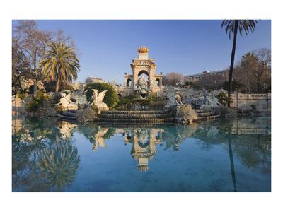 Fountain in the Parc de la Ciutadella in Barcelona, Catalonia, Spain--Art Print