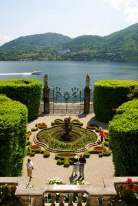 Fountain in the park of Villa Carlotta, Tremezzo, Lake Como, Lombardy, Italy