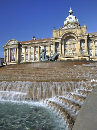 Fountain known as the Floozy in the Jacuzzi and the Council House, Victoria Square, Birmingham, Wes-Chris Hepburn-Photographic Print