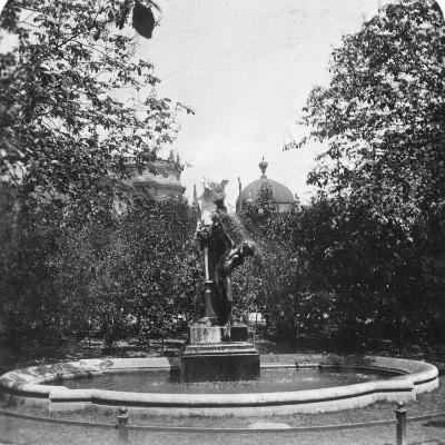 Fountain, Munich, Germany, C1900-Wurthle & Sons-Photographic Print
