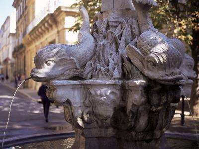 Fountain of Four Dolphins, Aix En Provence, Bouches Du Rhone, Provence, France-John Miller-Photographic Print