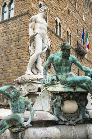 Fountain of Neptune (Biancone), Firenze, UNESCO, Tuscany, Italy-Nico Tondini-Photographic Print