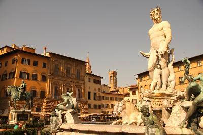Fountain of Neptune in Florence.-Spectral-Design-Photographic Print