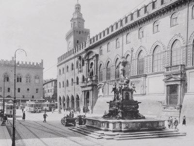 Fountain of Neptune or the Giant in Piazza Del Nettuno in Bologna-A^ Villani-Photographic Print