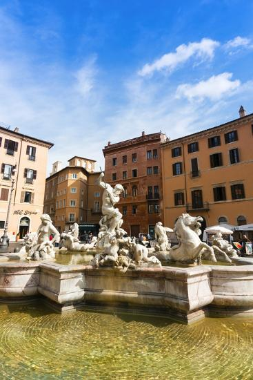 Fountain of Neptune, Piazza Navona, Rome, UNESCO World Heritage Site, Latium, Italy, Europe-Nico Tondini-Photographic Print