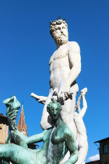Fountain of Neptune, Piazza Signoria, Firenze, Tuscany, Italy-Nico Tondini-Photographic Print
