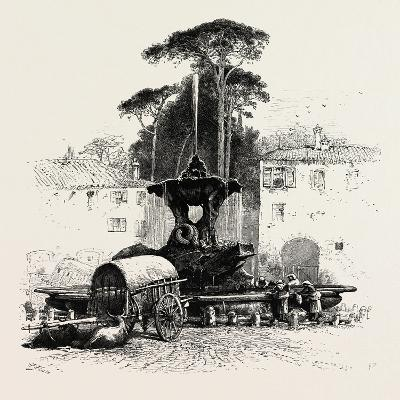 Fountain of Neptune, Rome and its Environs, Italy, 19th Century--Giclee Print