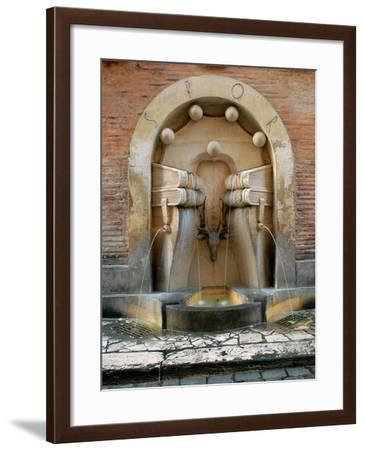 Fountain of the Books--Framed Photographic Print