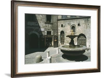 Fountain of the Mad and Bargello Palace--Framed Giclee Print