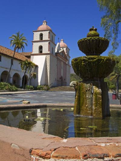 Fountain, Old Mission Santa Barbara, Santa Barbara City, California-Richard Cummins-Photographic Print