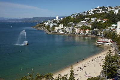 Fountain, Oriental Bay, Wellington, North Island, New Zealand-David Wall-Photographic Print
