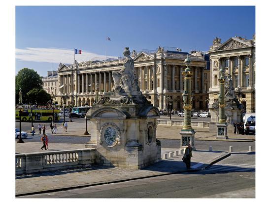 Fountain Place Concorde Paris--Art Print