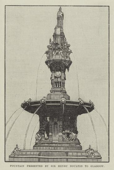 Fountain Presented by Sir Henry Doulton to Glasgow--Giclee Print