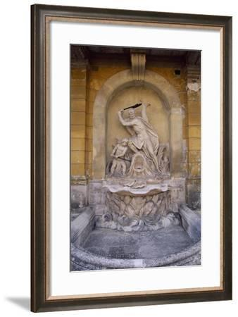 Fountain-Side of Inner Courtyard--Framed Giclee Print