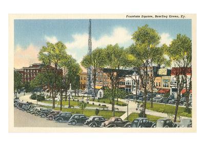 Fountain Square, Bowling Green, Kentucky--Art Print