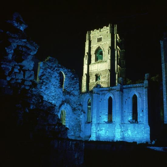 Fountains Abbey, Illuminated, 12th Century-CM Dixon-Photographic Print