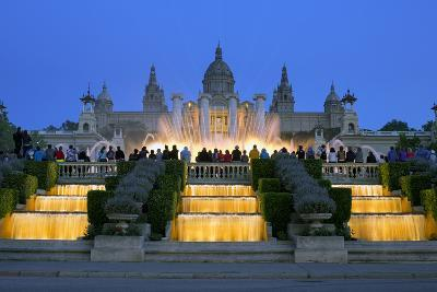 Fountains in Front of the National Museum of Art, Spain-Gavin Hellier-Photographic Print