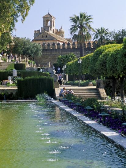 Fountains in Gardens, Cordoba, Andalucia (Andalusia), Spain-James Emmerson-Photographic Print