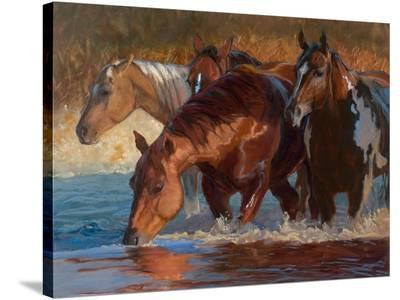 Four Across-Karen Bonnie-Stretched Canvas Print