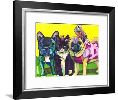 Four Animals-Solveig Studio-Framed Art Print