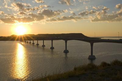Four Bears Bridge Stretches across the Missouri River, North Dakota-Angel Wynn-Photographic Print