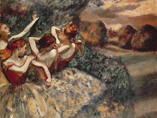 Four Dancers, 1899-Edgar Degas-Premium Giclee Print