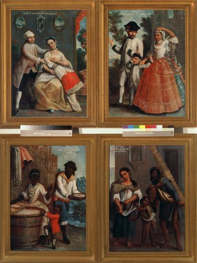 Four Different Racial Groups-Andres De Islas-Giclee Print