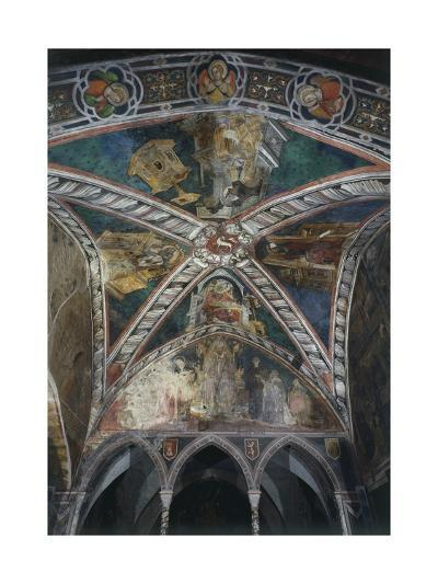 Four Doctors of Church of Vault in Upper Church of Sacro Speco Monastery, Subiaco, Italy--Giclee Print