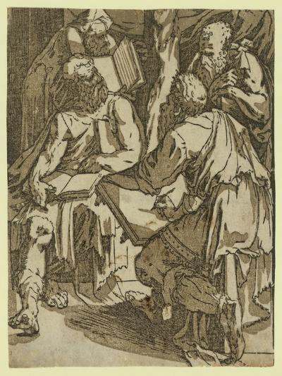 Four Doctors of the Church(?), Between 1500 and 1551-Domenico Beccafumi-Giclee Print