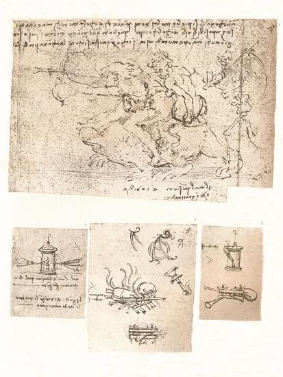Four drawings of allegorical representations, c1472-c1519 (1883)-Leonardo da Vinci-Giclee Print