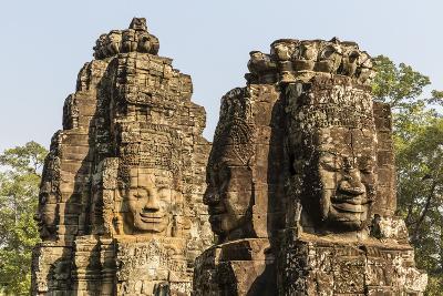 Four-Faced Towers in Prasat Bayon, Angkor Thom, Angkor, Siem Reap, Cambodia-Michael Nolan-Photographic Print