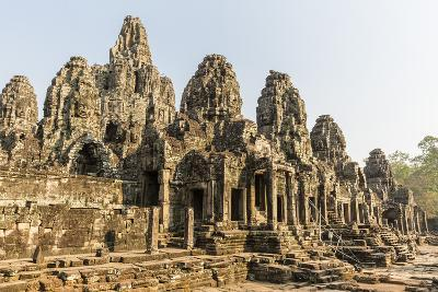 Four-Faced Towers in Prasat Bayon, Angkor Thom, Angkor, UNESCO World Heritage Site, Cambodia-Michael Nolan-Photographic Print