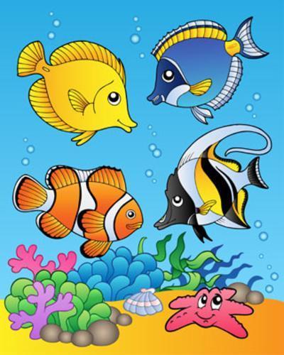 Four Fishes-Klara Viskova-Art Print