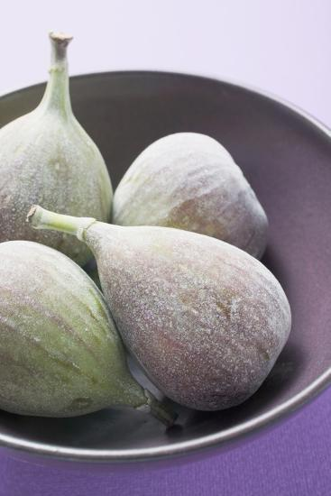 Four Fresh Figs in Bowl (Detail)-Foodcollection-Photographic Print