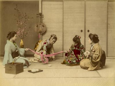 Four Geishas Together--Photographic Print