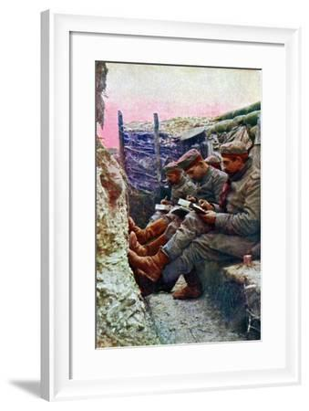 Four German Soldiers from the 7th Regiment--Framed Giclee Print