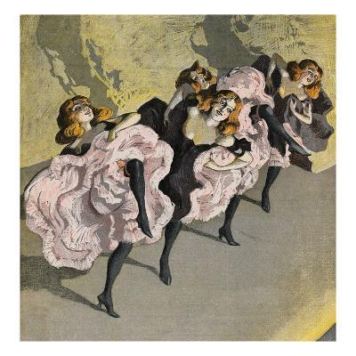 Four Girls Dancing Cancan-Bettmann-Giclee Print