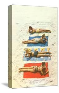 Four Girls on Beach Towels