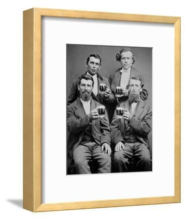 Four Guys and their Mugs of Beer, Ca. 1880