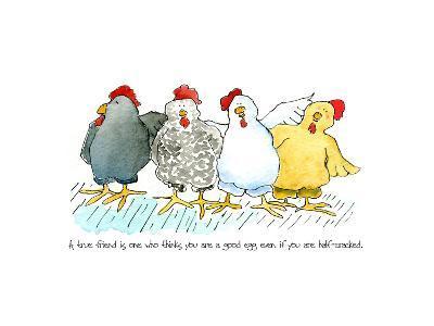 Four Hens New-Jennifer Zsolt-Giclee Print