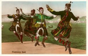 Four Highland Dancers in Kilts