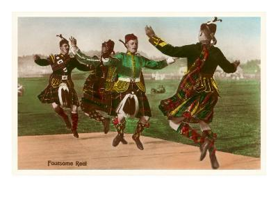 Four Highland Dancers in Kilts--Art Print