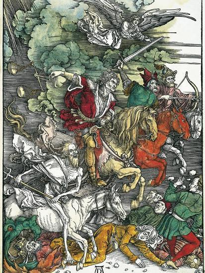 Four Horsemen of the Apocalypse: Pestilence, War, Famine and Death Art  Print by Albrecht Dürer | Art com