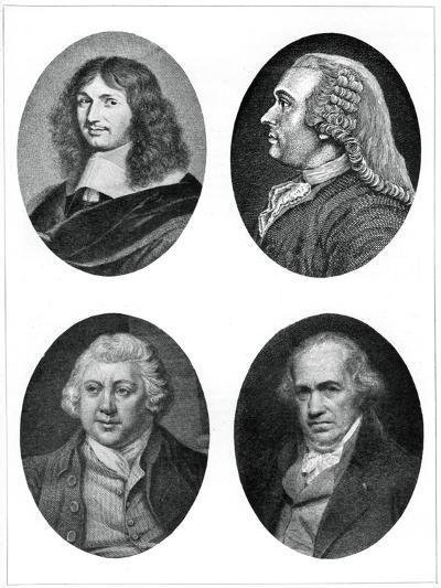 Four Industrial Reformers: Colbert, Turgot, Arkwright and Watt--Giclee Print