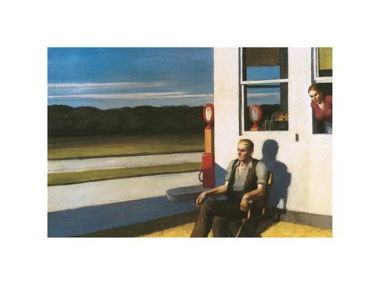 Four Lane road, 1956-Edward Hopper-Premium Giclee Print