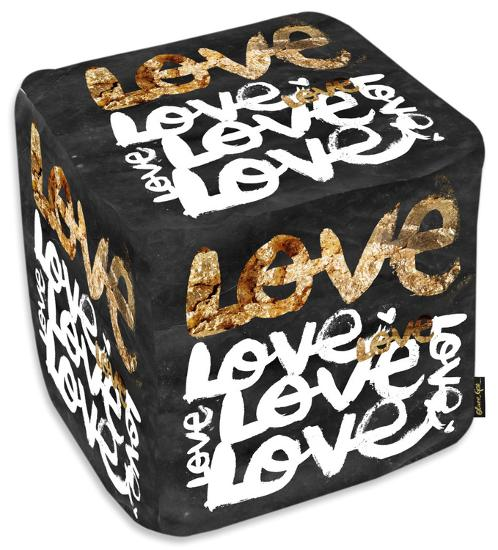 Four Letter Word Gold Ottoman Home Accessories by | Art com